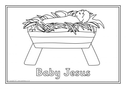 Nativity Story Colouring Sheets SB6445 SparkleBox