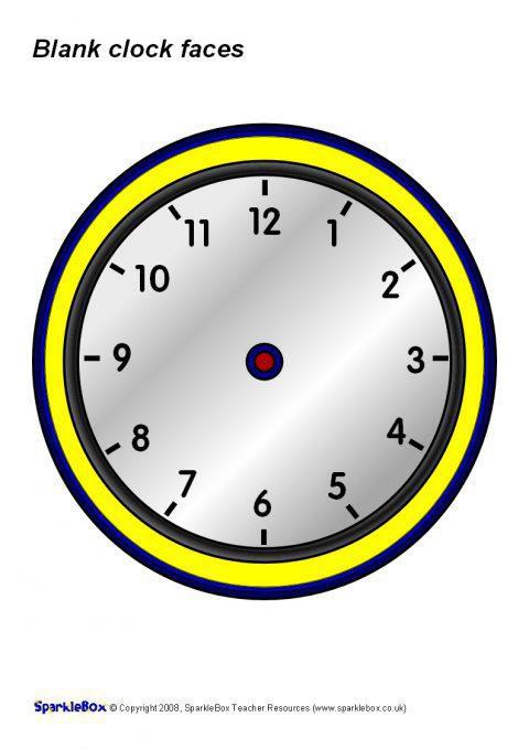 Blank Clocks Sb1221 Sparklebox