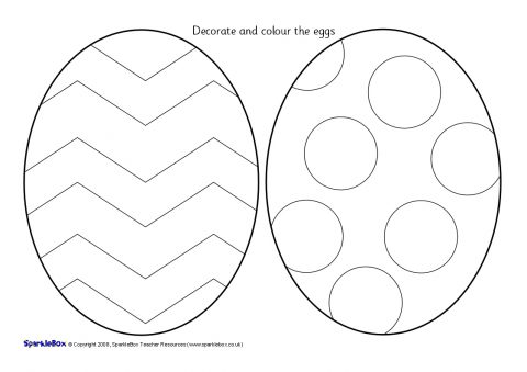 Easter Egg Colouring Sheets (SB1230) - SparkleBox