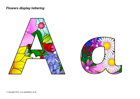 Flowers Display Lettering (SB3504) - SparkleBox
