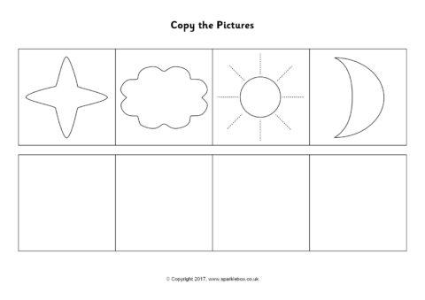 copy the pictures worksheets sb12184 sparklebox. Black Bedroom Furniture Sets. Home Design Ideas