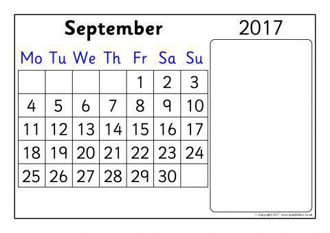 academic 2017 2018 year calendar month to view sb12014 sparklebox