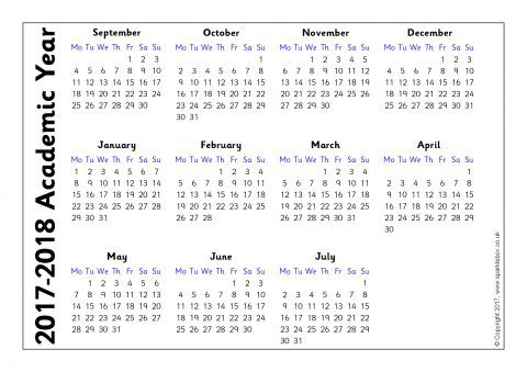 Academic Year 2017-2018 Calendars – Year to View (SB12015 ...