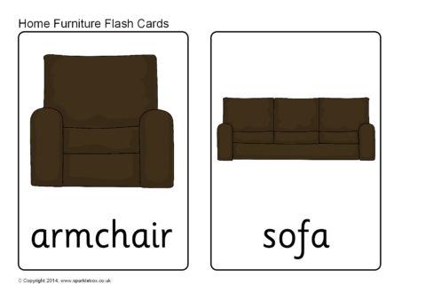 Home Furniture Flash Cards Sb10256 Sparklebox