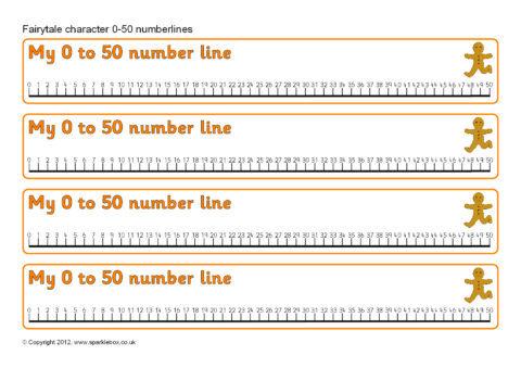 Sb8428 Fairytale Number Lines on Blank Number Line Printable Pdf