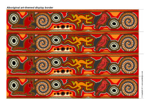 Teaching resources about australia for ks1 ks2 sparklebox aboriginal art themed display border sb7300 toneelgroepblik Image collections