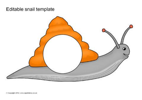editable snail templates sb8756 sparklebox