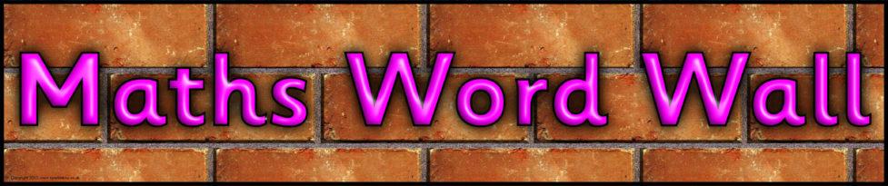 Maths Word Wall Display Banner (SB7910) - SparkleBox