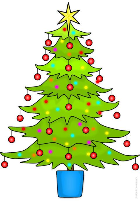 Printable Christmas Tree.Giant Christmas Tree Picture For Display Sb10944 Sparklebox