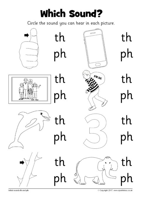 Which Sound? Worksheet – th and ph (SB12237) - SparkleBox