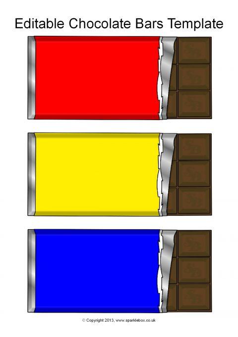 editable chocolate bar templates  sb9996