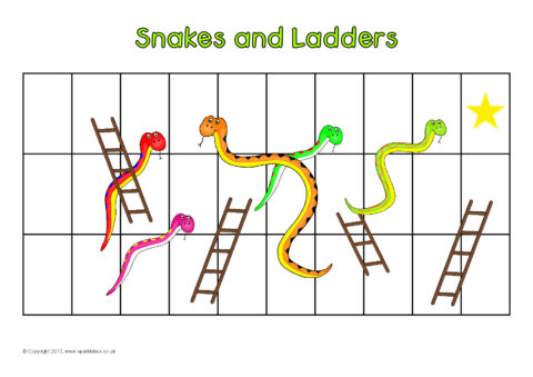 Snakes and ladders template pdf choice image template for Snakes and ladders template pdf