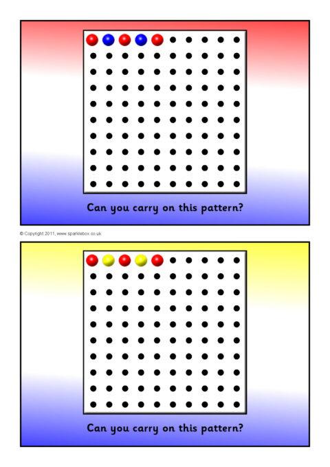 peg board pattern cards  sb5979