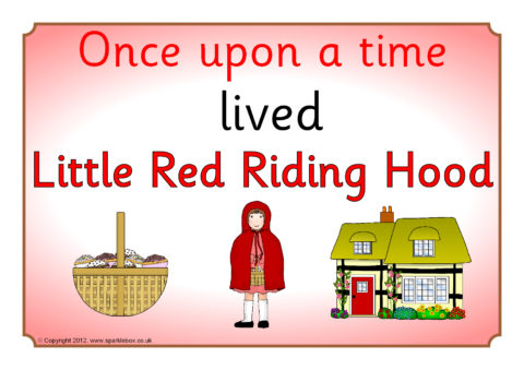 image relating to Little Red Riding Hood Story Printable called Tiny Crimson Driving Hood Tale Visible Allows (SB602) - SparkleBox