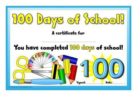Other printable certificates and rewards for primary ks1 ks2 100 days of school certificates sb7827 printable certificates yadclub Choice Image