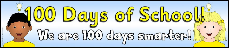100 Days Of School Display Banner Sb7828 Sparklebox