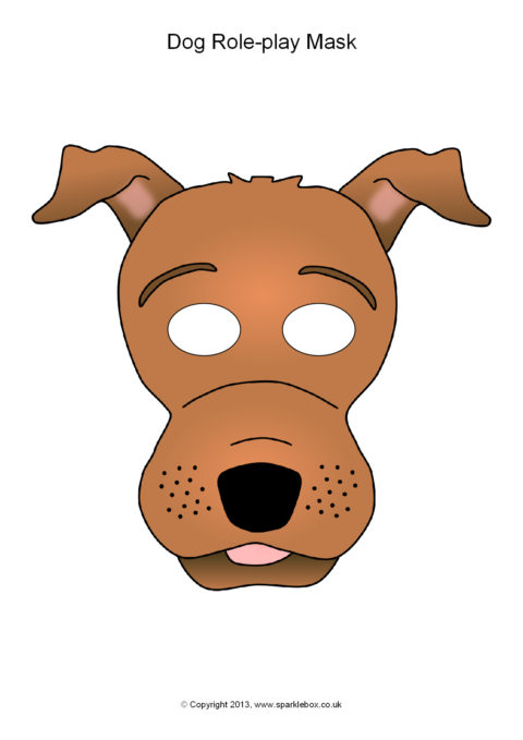 dog mask template for kids - dog role play masks sb9942 sparklebox