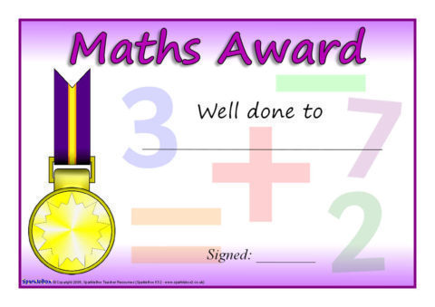 Ks1 ks2 maths certificates and awards sparklebox view preview yadclub Choice Image