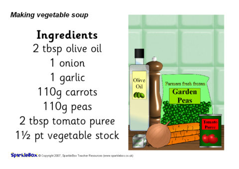 Printable healthy food recipes for kids sparklebox vegetable soup recipe sheets sb720 forumfinder Image collections