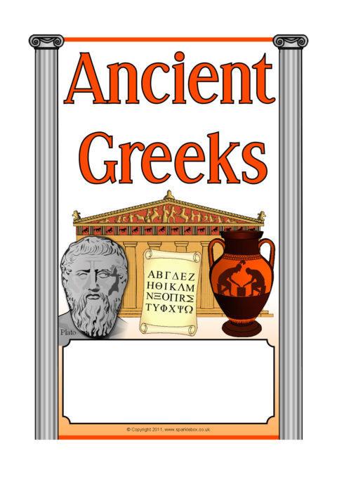 Ancient Greeks Greece Editable Topic Book Covers Sb6969