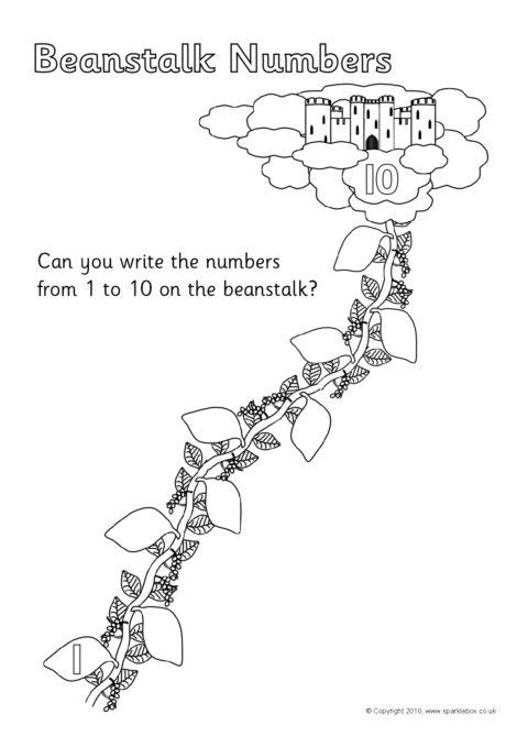beanstalk number worksheets  sb3164