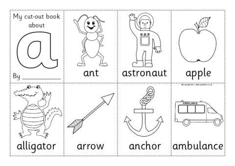 Cut-Out Mini Alphabet Booklets (SB4783) - SparkleBox