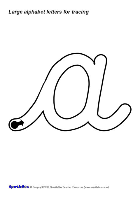 Large Alphabet Letters for Tracing – Cursive (SB1328 ...