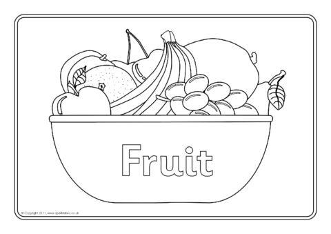 Fruit Colouring Sheets Sb6798 Sparklebox