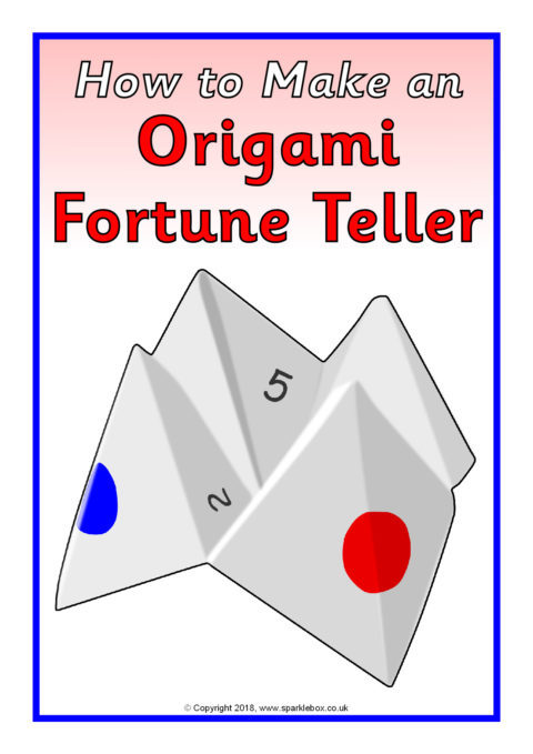 How To Make A Paper Fortune Teller Instructions Sb12404 Sparklebox