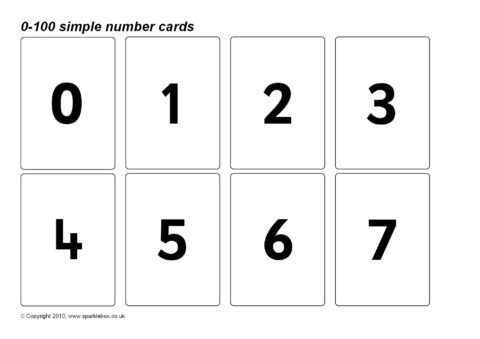 number flash cards primary teaching resources printables sparklebox