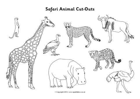 Safari Animal CutOuts Black