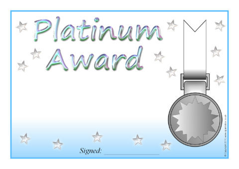 Editable Platinum Gold Silver And Bronze Certificate Templates