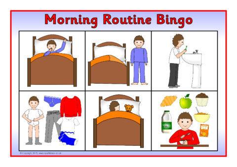 Morning Routine Bingo (SB11125) - SparkleBox