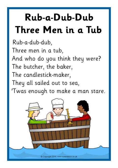 RubaDubDub Three Men in a Tub