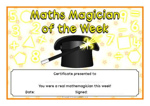 Maths Magician Certificates (SB10883) - SparkleBox