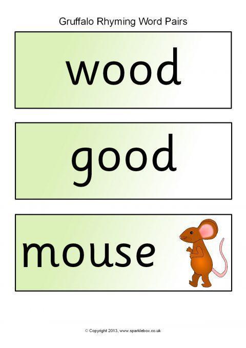 Gruffalo Rhyming Word Pair Cards (SB10111) - SparkleBox