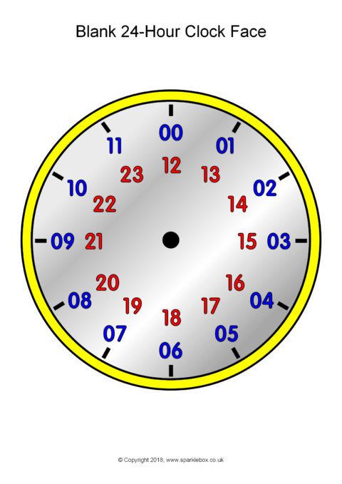 Blank 24-Hour Analogue Clocks (SB12496) - SparkleBox