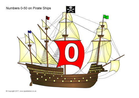 Numbers 0 50 On Pirate Ships Sb1383 Sparklebox