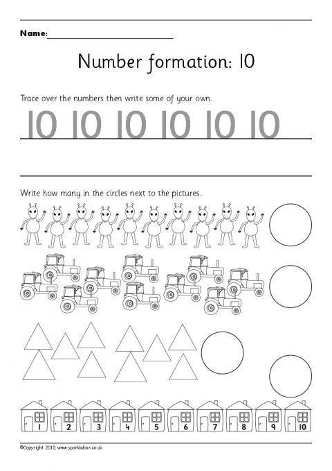 Number Worksheets And Printables For Primary School Sparklebox