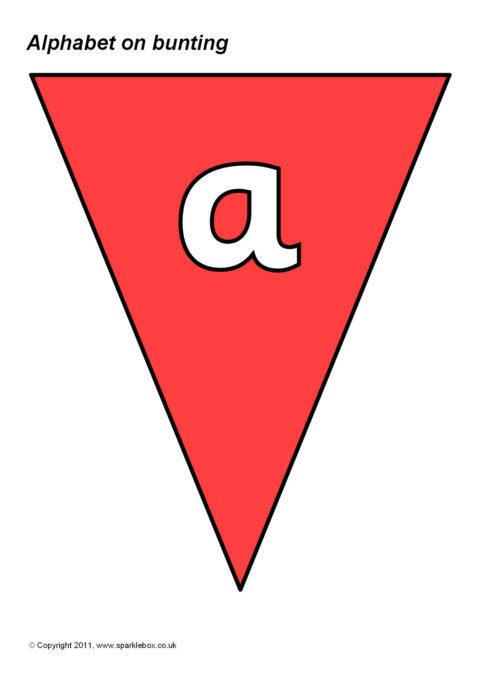 Alphabet on Coloured Bunting (SB5558) - SparkleBox