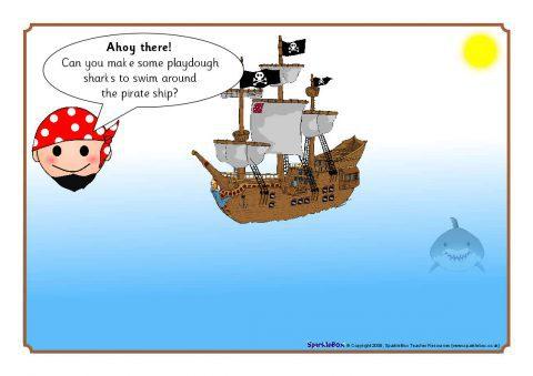 Pirate Playdough Mats Sb1469 Sparklebox
