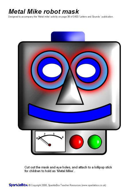 'Metal Mike' Robot Mask (SB1494) - SparkleBox
