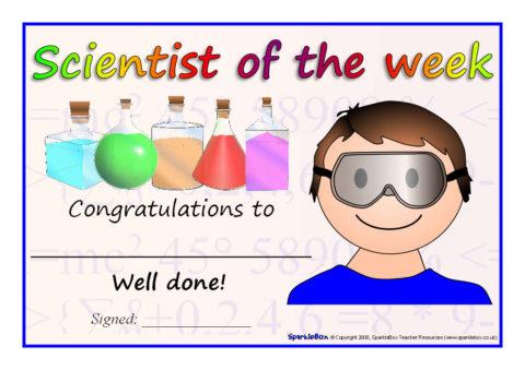 Scientist of the Week Certificates (SB6645) - SparkleBox
