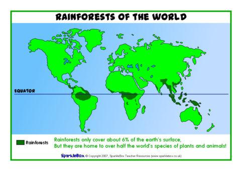 Rainforest Maps Sb6574 Sparklebox