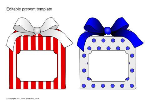 editable present gift templates sb6469 sparklebox