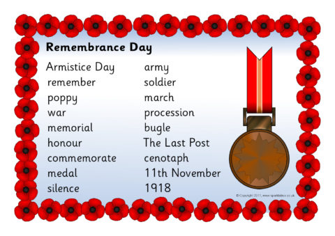 remembrance day word mat sb6306 sparklebox