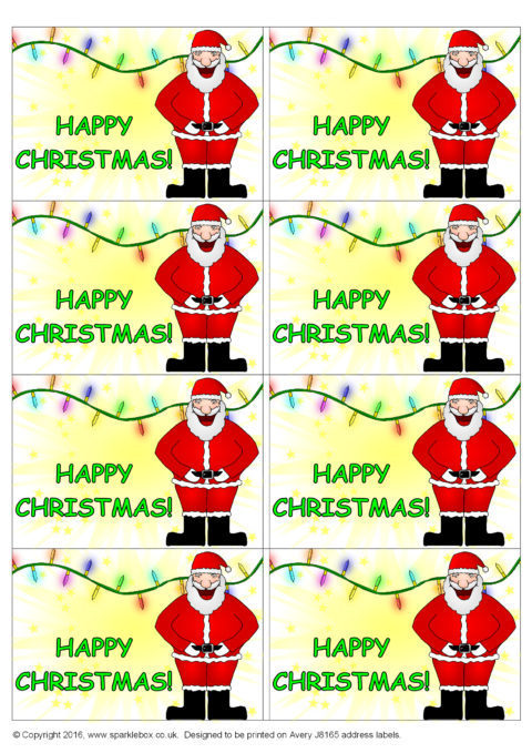 Avery Christmas Labels.Christmas Gift Stickers Sb134 Sparklebox
