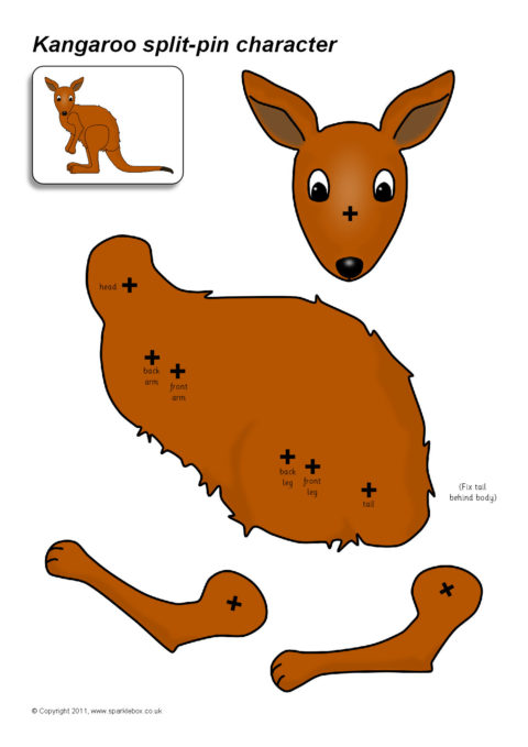 Split-Pin Kangaroo Character (SB6218) - SparkleBox