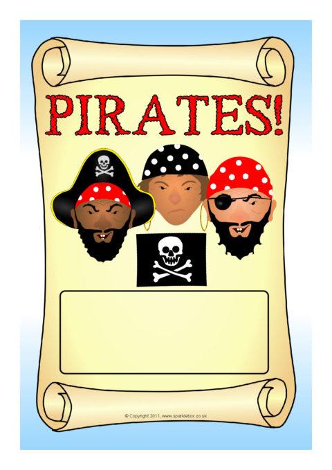 Pirates Editable Topic Book Covers Sb6161 Sparklebox