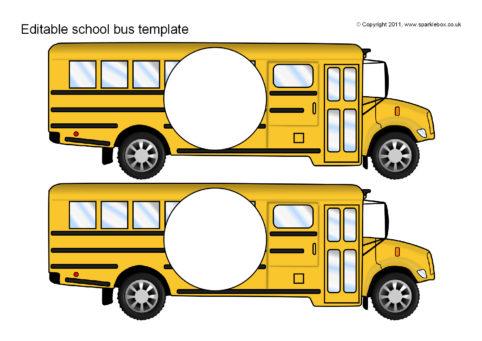 editable school bus templates sb6097 sparklebox